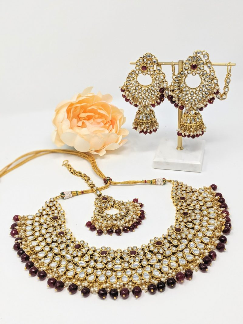 Mogra Kundan Necklace Set - East Boutique