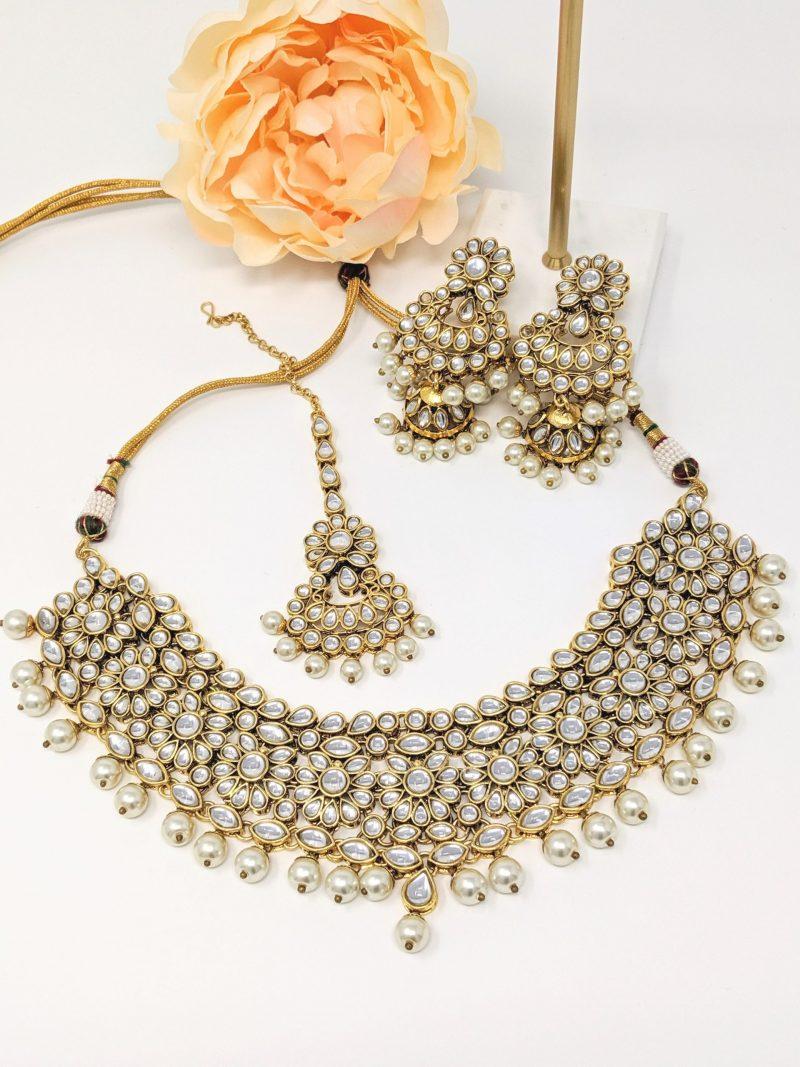 Golden Menka Necklace Set - East Boutique