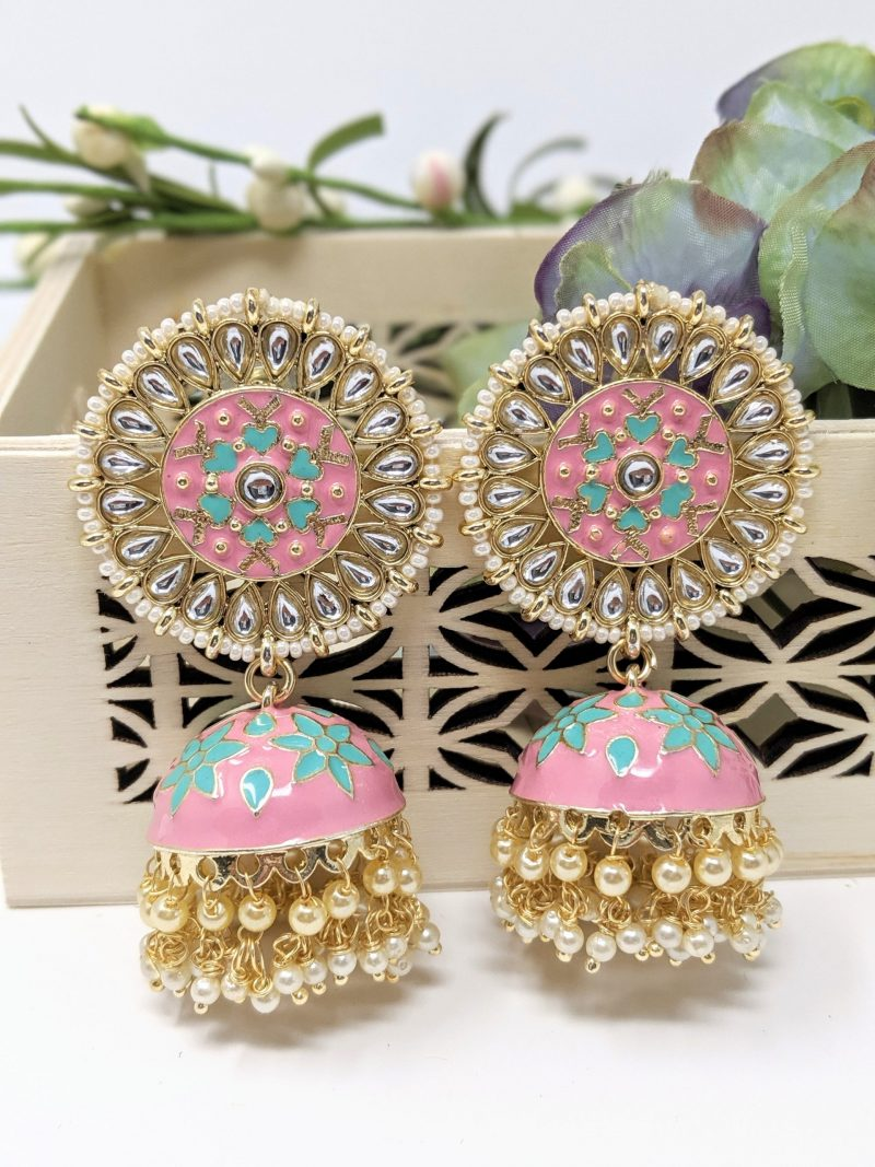 Meenakari Statement Jhumka - East Boutique